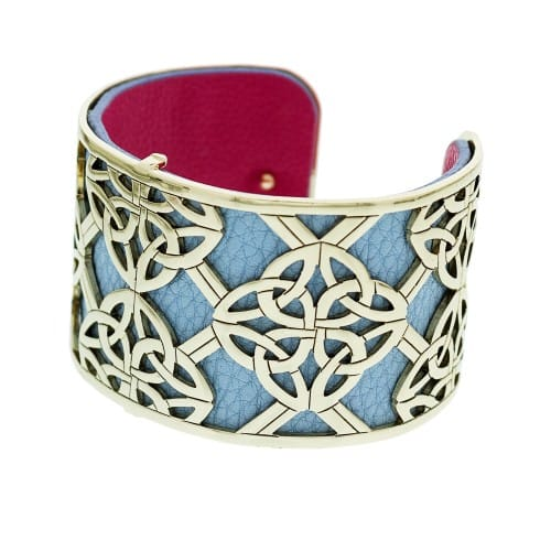 Gold Plated Trinity Knot Cuff Bracelet 2054798