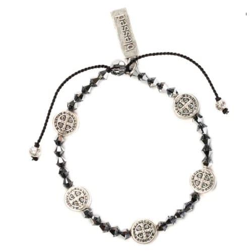 Iridescent Swarovski St. Benedict Bracelet