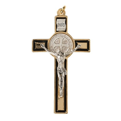 Black and Gold St. Benedict Crucifix