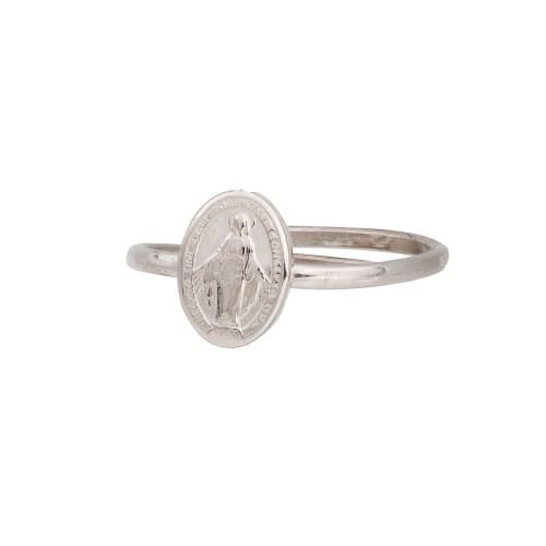 SS Miraculous Medal Adjustable Ring
