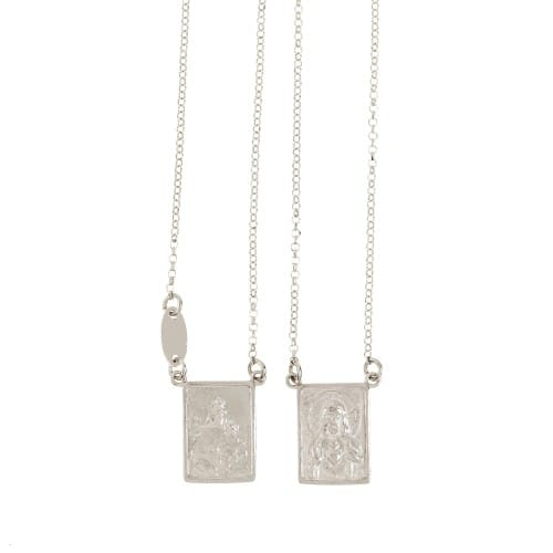 Sterling Silver Chain Necklace Scapular