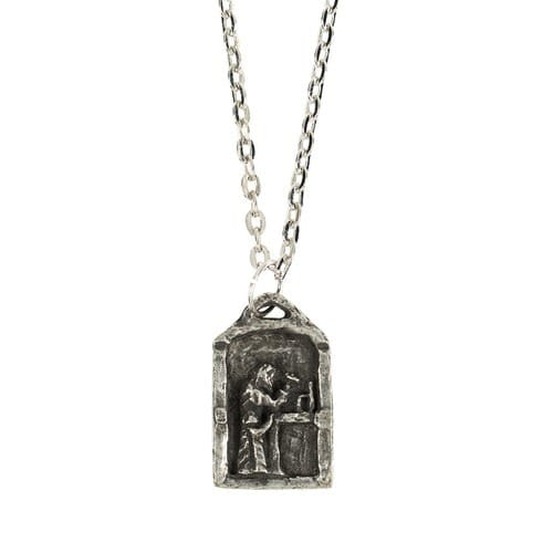Handcrafted Pewter St. Joseph Necklace