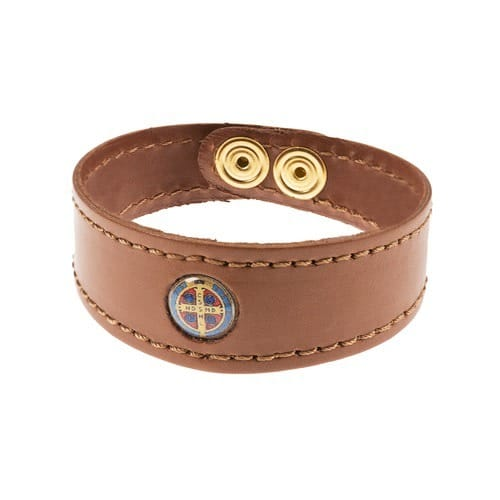 St. Benedict Leather Bracelet