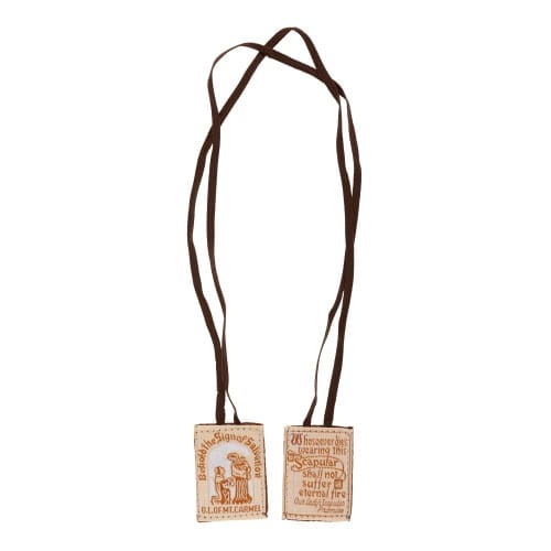Cloth Scapular Brown String Multi Packs