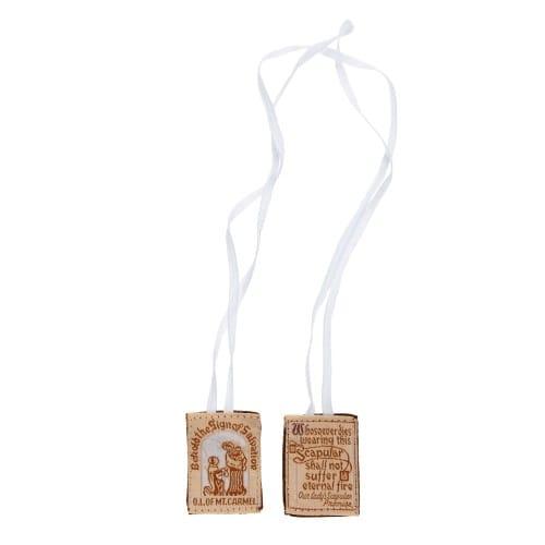 Cloth Scapular White String Multi Packs