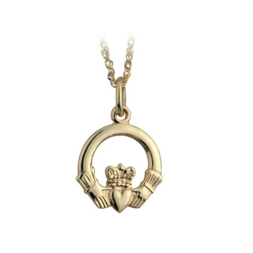 10K Gold Claddagh Necklace