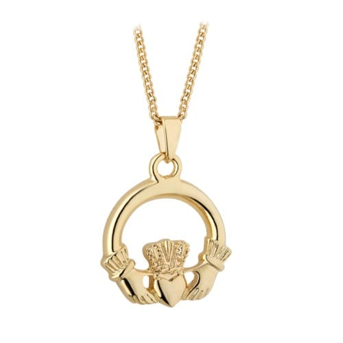 Gold Plated Claddagh Necklace