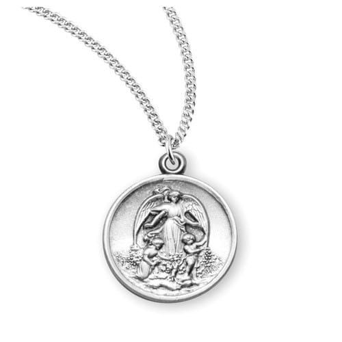 Sterling_Silver_Guardian_Angel_with_Children_Necklace
