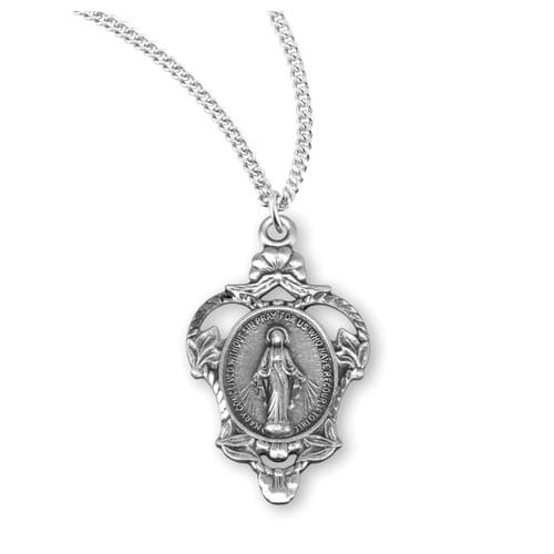 Sterling_Silver_Vine_Miraculous_Medal_Necklace