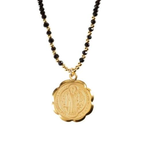 St._Benedict_Medal_on_Black_Crystal_Choker