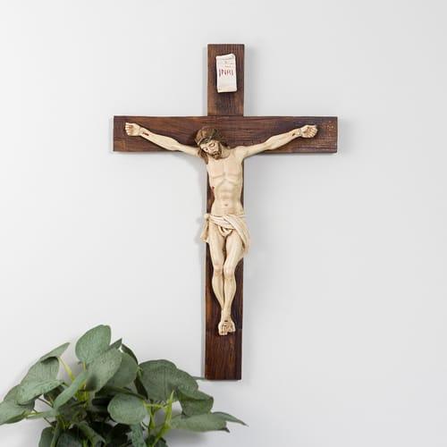 Alabaster Crucifix - 15 inch