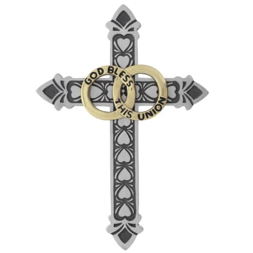 Decorative Pewter Marriage Cross