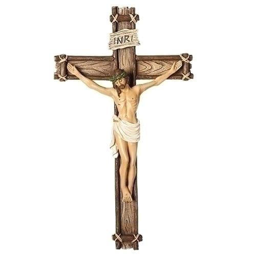 Wood-Look Wall Crucifix