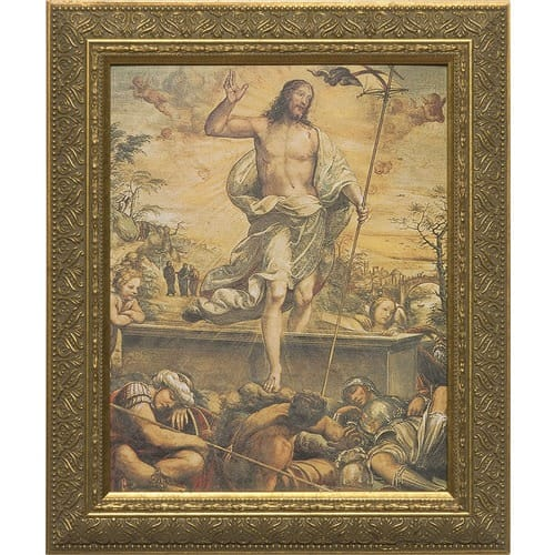 Resurrection of Christ with Gold Frame