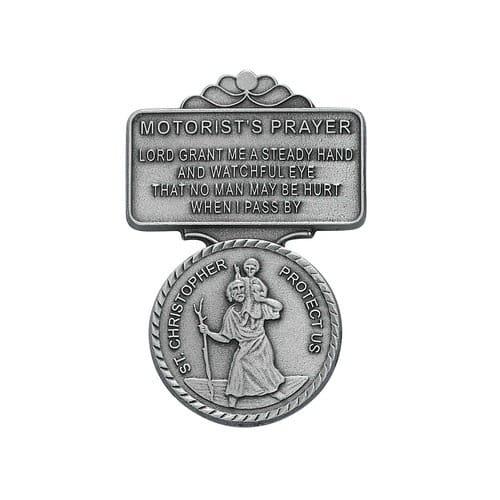 Pewter St. Christopher Visor Clip