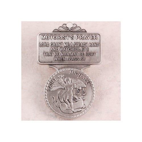 Pewter St. Michael Visor Clip