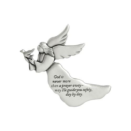 God Is Never More Than A Prayer Away Angel Visor Clip