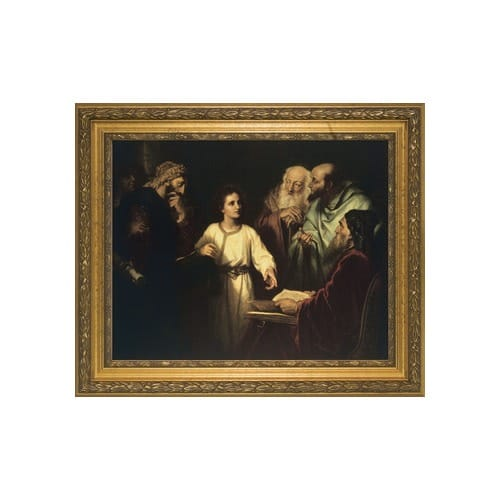 Christ_in_the_Temple_w__Gold_Frame