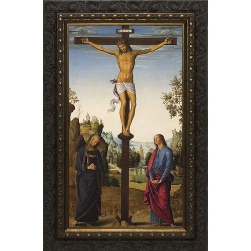 Crucifixion_with_Dark_Ornate_Frame