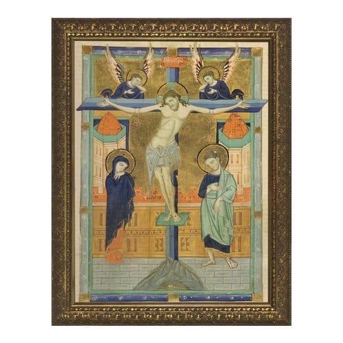 Crucifixion Icon Gold Frame