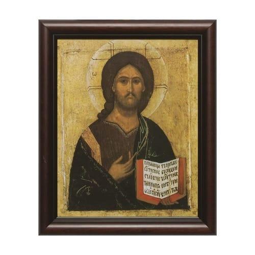 Christ the Teacher Icon w/ Cherry Frame