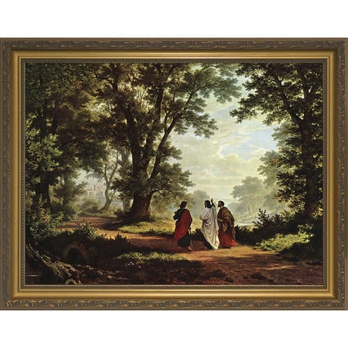 Road to Emmaus w/ Gold Frame 2222309