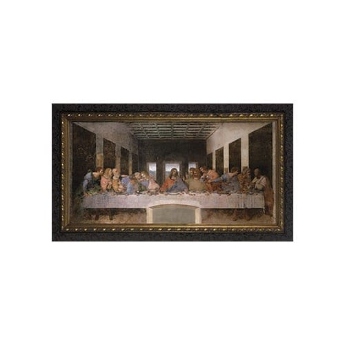 the last supper w dark ornate frame the catholic company