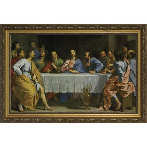 The Last Supper w/ Gold Frame