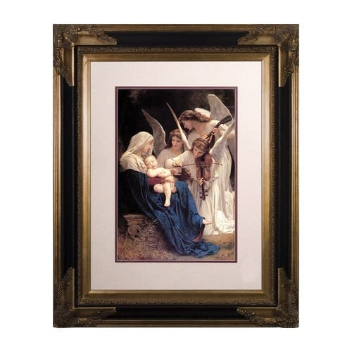 song of angels matted w black and gold museum frame 16x20 the catholic company