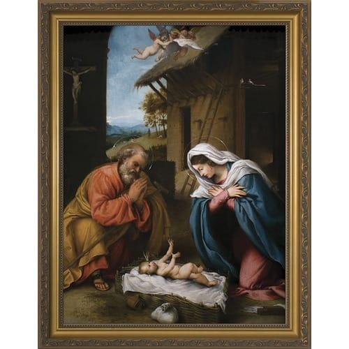Nativity w/ Gold Frame