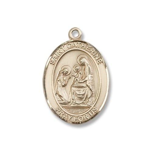 Gold St. Catherine of Siena Medal - 14KT