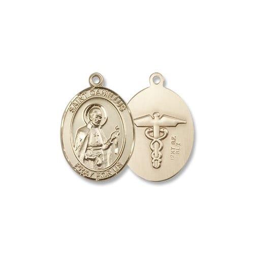 Gold St. Camillus of Lellis - Nurse Medal 14KT