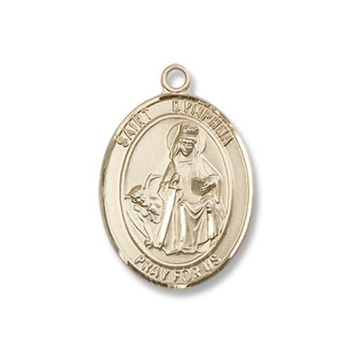 Gold St. Dymphna Medal - 14KT