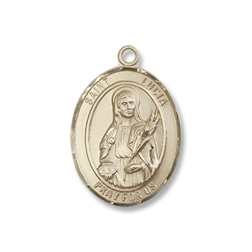 Gold St. Lucia of Syracuse Medal - 14KT