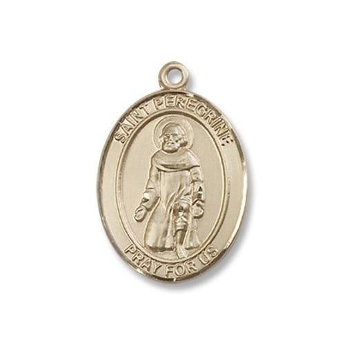 Gold St. Peregrine Laziosi Medal - 14KT