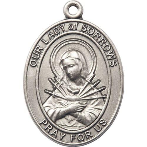 Silver Oxide O/L of Sorrows Keychain