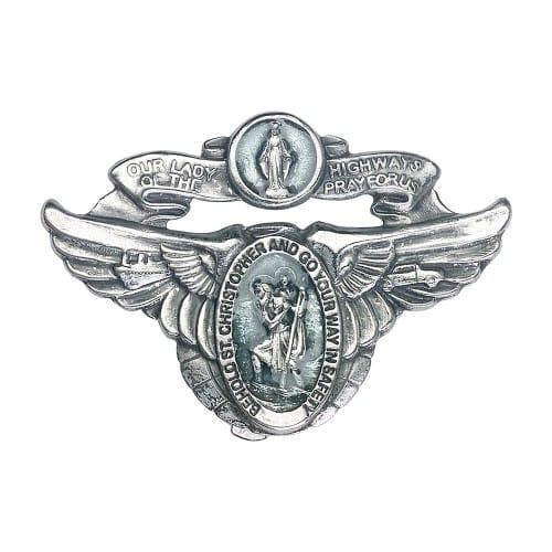 Antique Silver O/L of the Highway Visor Clip