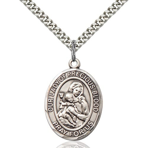 Sterling Silver O/L of the Precious Blood Pendant