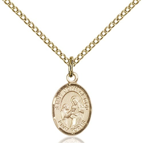 14kt Gold Filled St. John of God Petite Pendant