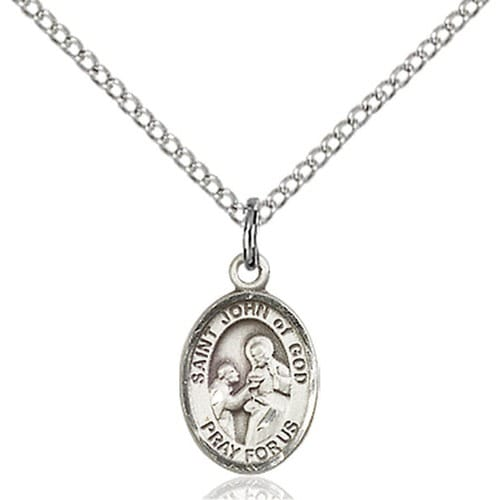 Sterling Silver St. John of God Pendant