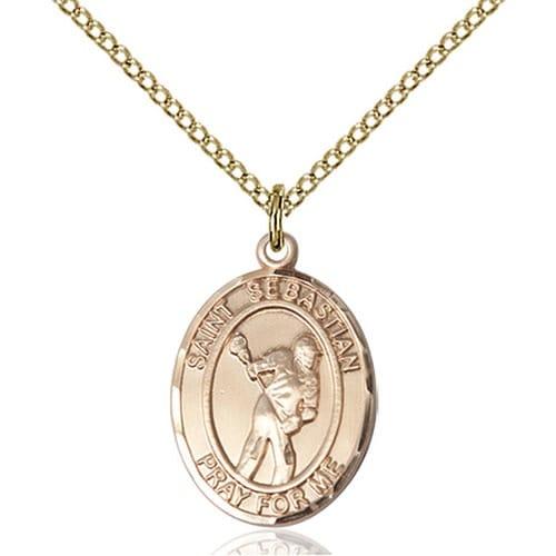 14kt Gold Filled St. Sebastian Pendant/LaCrosse
