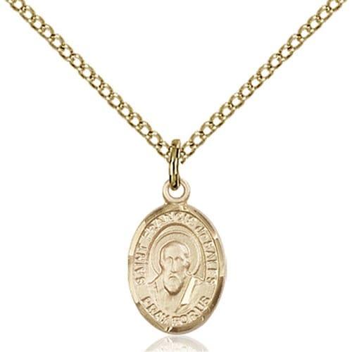 14kt Gold Filled St. Francis de Sales Petite Pendant