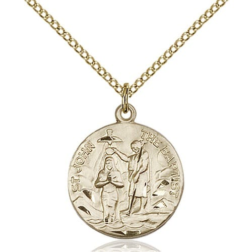14kt Gold Filled St. John the Baptist Pendant