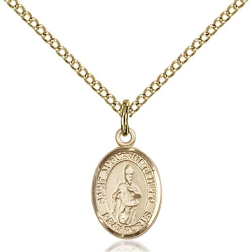 14kt Gold Filled St. Augustine of Hippo Petite Pendant