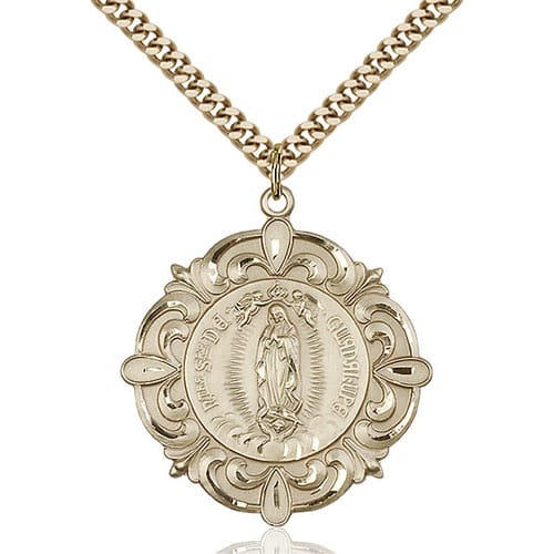 14kt Gold Filled O/L of Guadalupe Pendant
