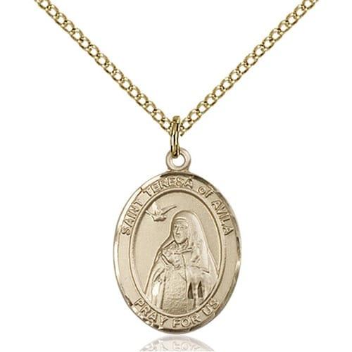 14kt Gold Filled St. Teresa of Avila Pendant