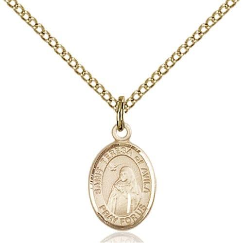 14kt Gold Filled St. Teresa of Avila Petite Pendant