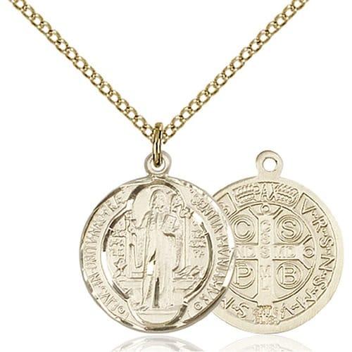 14kt Gold Filled St. Benedict Pendant