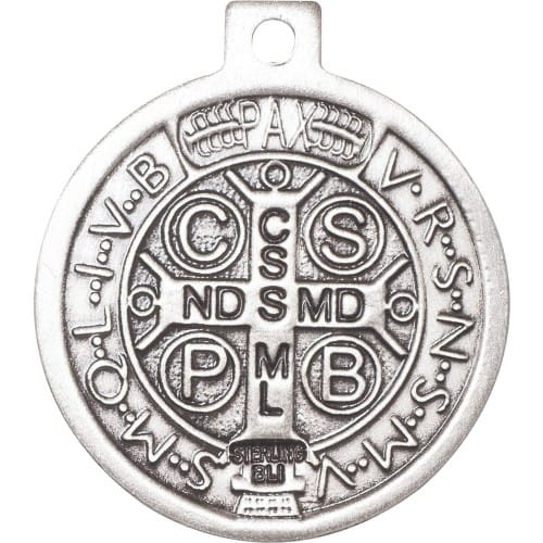 """St. Benedict Necklace - Large 24"""" Chain"""