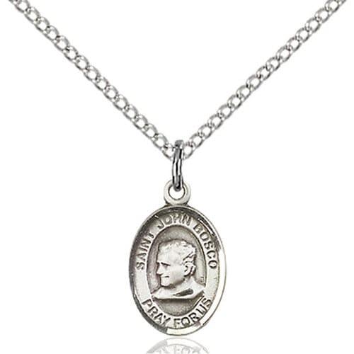 Sterling Silver St. John Bosco Pendant